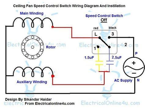 ceiling fan motor wiring ceiling fan speed control switch wiring diagram
