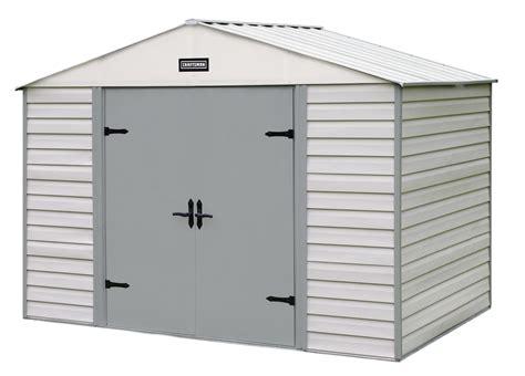 sears metal sheds craftsman 10 x 7 vinyl coated steel shed rugged storage