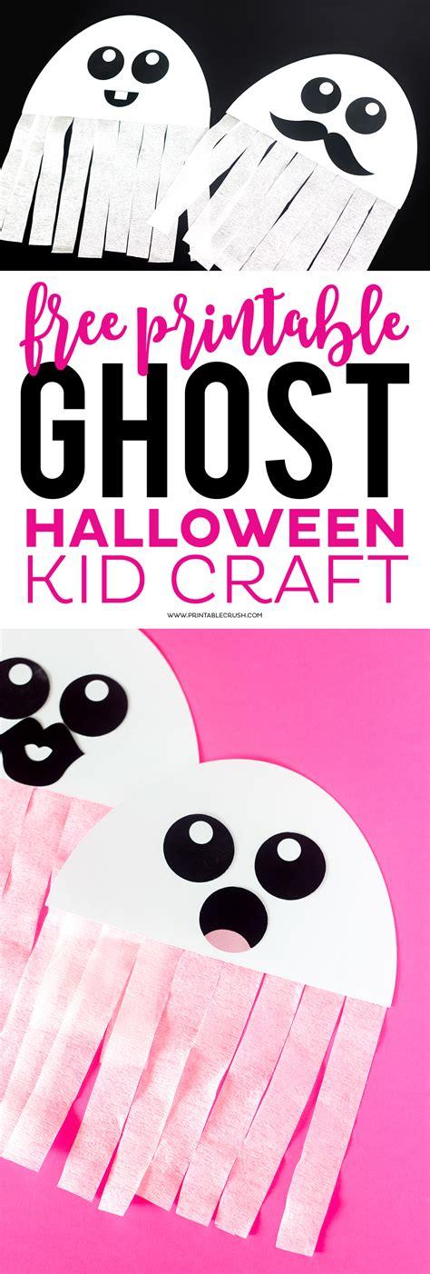Free Printable Ghost Halloween Craft  Printable Crush