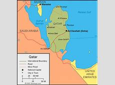 Qatar Map and Qatar Satellite Images