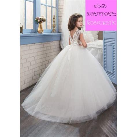 robe de princesse mariage fille robes longue de fille c 233 r 233 monie mariage enfant robe de