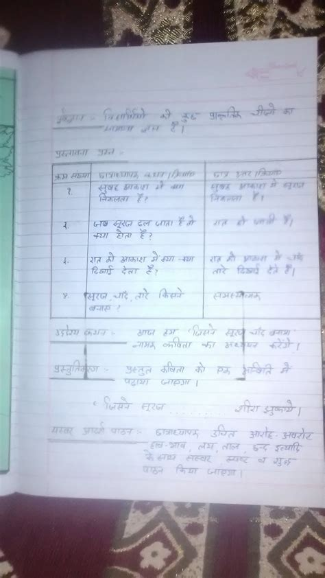 btc lesson plan hindi for primary class make lesson plan