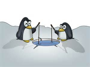 Penguin Fishing Clip Art Free