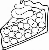 Cream Pie Coloring Whipped Clipart Ice Cherry Sandwich Clip Template 1101 1701 Piece Strawberry Topping sketch template
