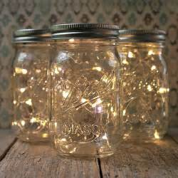 mason jar fairy lights pint small mouth warm white set of 3