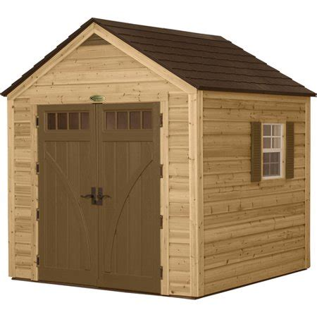 outdoor sheds walmart suncast 8 x 8 wood resin hybrid shed walmart