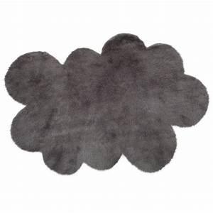 Tapis nuage gris anthracite pilepoil pour chambre enfant for Tapis nuage gris