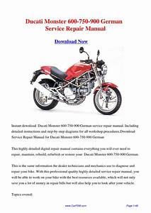 Ducati M900 Monster 900 Service Repair Workshop Manual