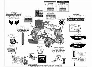 Troy Bilt 13an77ks011 Pony  2013  Parts Diagram For Label Map