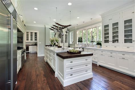 kitchens with hardwood floors and white cabinets 143 luxury kitchen design ideas designing idea 770 | luxury white kitchen hardwood flooring