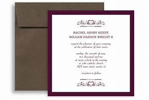 Purple white marriage printable wedding invitation 5x5 in for Wedding invitation templates 5x5
