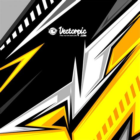 Abstract Black And Yellow Design by Abstract Racing Stripes Background With Yellow And Black