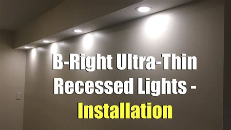 bight ultra thin recessed lights installation youtube