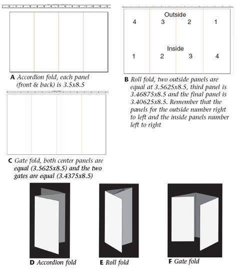 Brochure Folding Options Brickhost 43e42a85bc37 Brochure Folds Brochure Folding Options