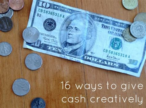 how to give cash ways to give money c r a f t