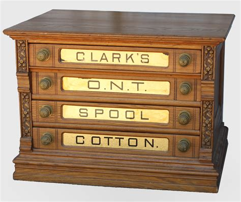 Antique Clarks Spool Cabinet by Bargain S Antiques 187 Archive Spool Thread
