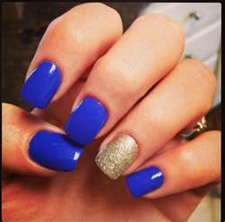 Royal blue and gold nails fall baby shower