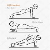 Plank Exercise Workout Cartoon Side Coloring Depositphotos Vrouw Maken Oefening Making Woman Ronald Mujuru Muscles Core Template Training sketch template