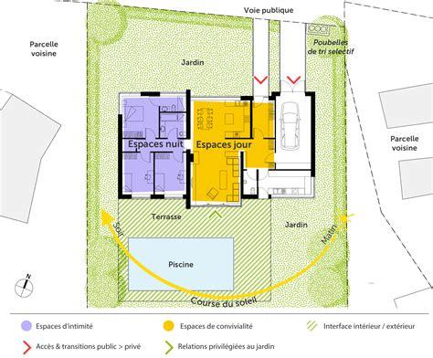 plan maison 3 chambre plain pied plan maison contemporaine de plain pied avec 3 chambres