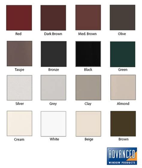 window frame colors vinyl window frame colors advanced window products