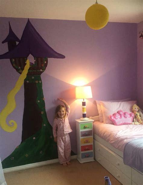 Rapunzel Tangled Bedroom Mural Hand Painted Girls Disney