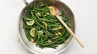 quick cooked green beans  lemon