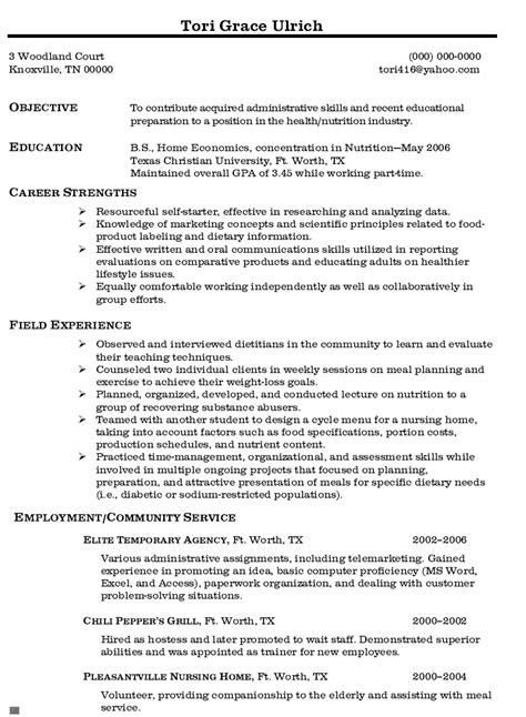 My Optimal Resume by My Optimal Resume Le Cordon Bleu Elder Caregiver Resume