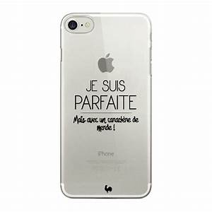 Coque Iphone Transparente : coque iphone 7 transparente je suis parfaite coque et poule ~ Teatrodelosmanantiales.com Idées de Décoration