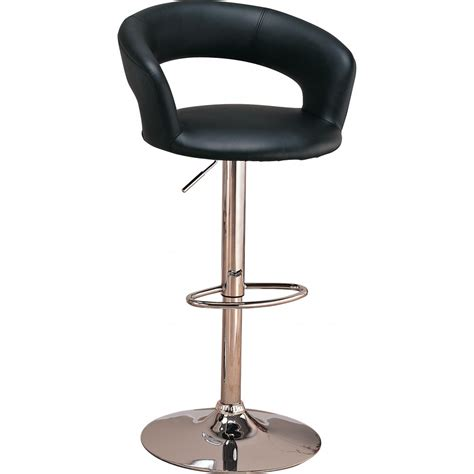 "29"" Upholstered Bar Chair With Adjustable Heightblack"