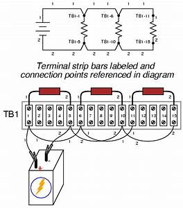 building simple resistor circuits series and parallel With wiring strip board