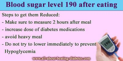 blood sugar level   eating