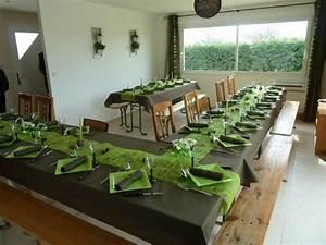 Deco Vert Anis : deco de table gris et vert anis ~ Teatrodelosmanantiales.com Idées de Décoration