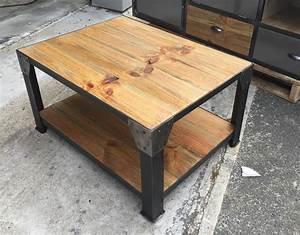 Table Basse Bois Industriel : table basse style industriel ~ Teatrodelosmanantiales.com Idées de Décoration