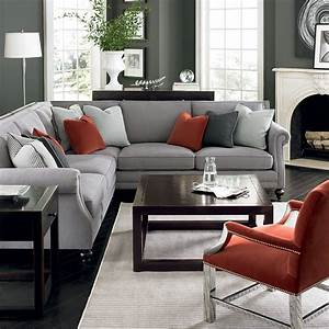Pinterest nadinevoikos bernhardt living room in grey for Gray and red living room