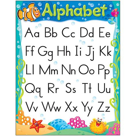 alphabet chart alphabet sea buddies learning chart t 38350 trend