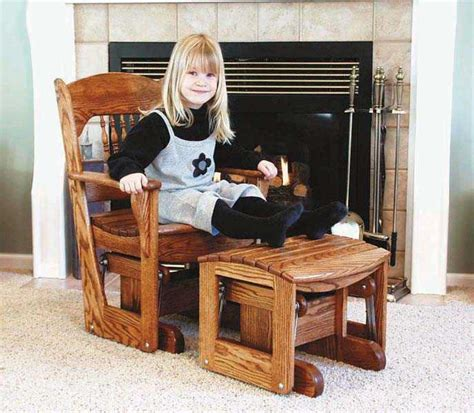 childrens glider rocker woodworking plan