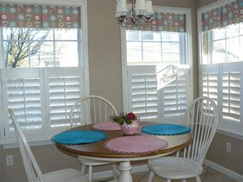 cafe shutters   fabric valance