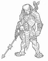 Drawing Predator Coloring Pages Alien Deviantart Drawings Masked Vs Tattoo Helmet Easy Colouring Coincidence Ronniesolano Designs Draw Costume Print Super sketch template