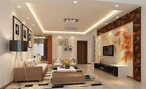 Chinese living room tv wall design