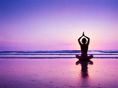 Yoga Beach Sunset Purple Wallpapers Resolution Pose