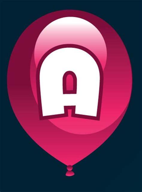 alphabet letters  colored balloons vectors