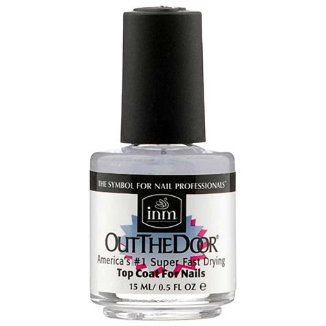 out the door nail out the door top coat fast drying shine