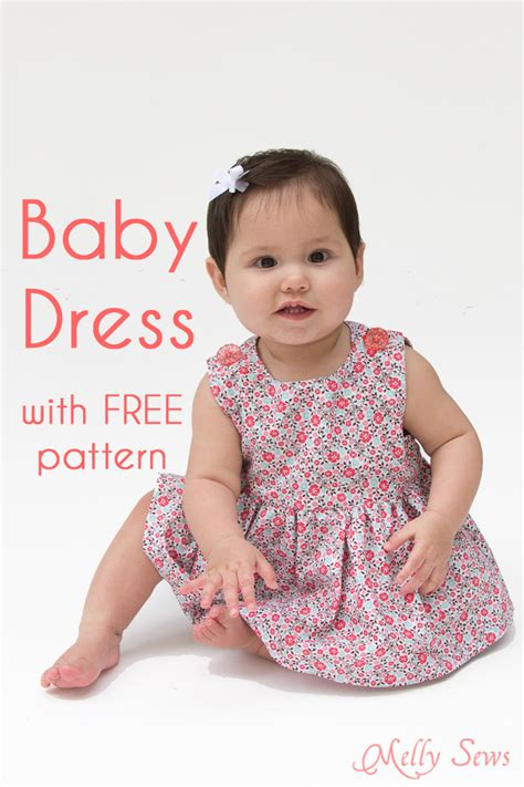 Sew a Baby Dress with FREE Pattern  Melly Sews