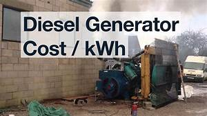 Cost To Generate Electricity With A Diesel Generator   Ufe0f