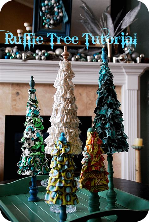 christmas project ruffle trees tutorial