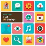 set web icons modern flat design stock vector illustration