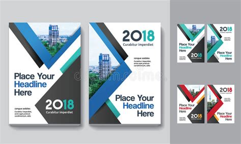 City Background Business Book Cover Design Template In A4