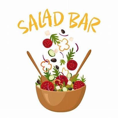 Salad Bar Vector Illustration Cartoon Vectors Pub