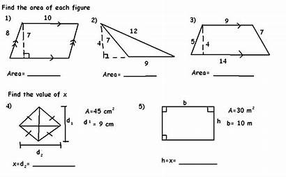 Triangles Areas Quadrilaterals Problems Practice Figure Section
