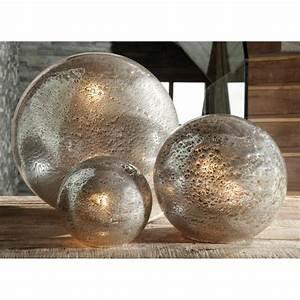 Lampe Boule à Poser : lampe poser angel des montagnes boule fusion en verre ~ Dailycaller-alerts.com Idées de Décoration